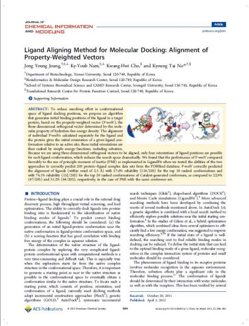 2012_Ligand Aligning Method for Molecular Docking_ Alignment of Property-Weighted Vectors.jpg